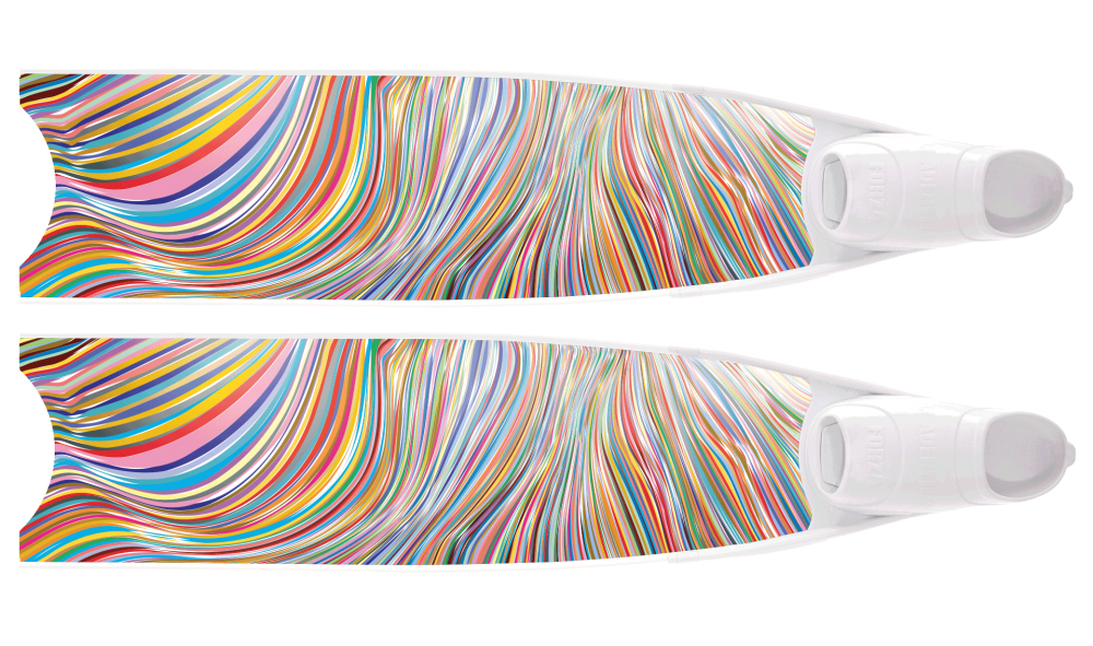 RainbowLine Semi-Transparent Bi-Fins