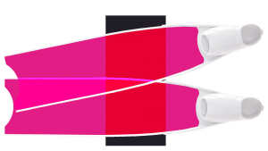 Pink Colour Semi-Transparent Bi-Fins