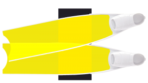 Yellow Colour Semi-Transparent Bi-Fins