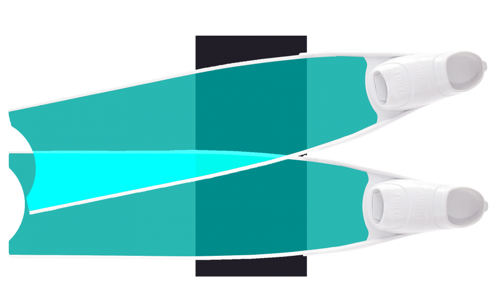 Green Colour Semi-Transparent Bi-Fins