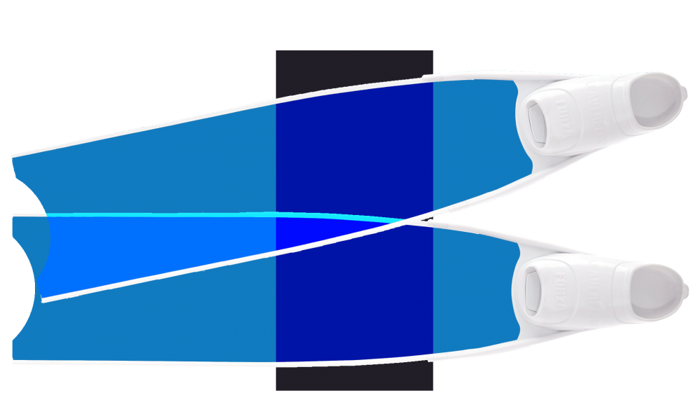 Blue Colour Semi-Transparent Bi-Fins