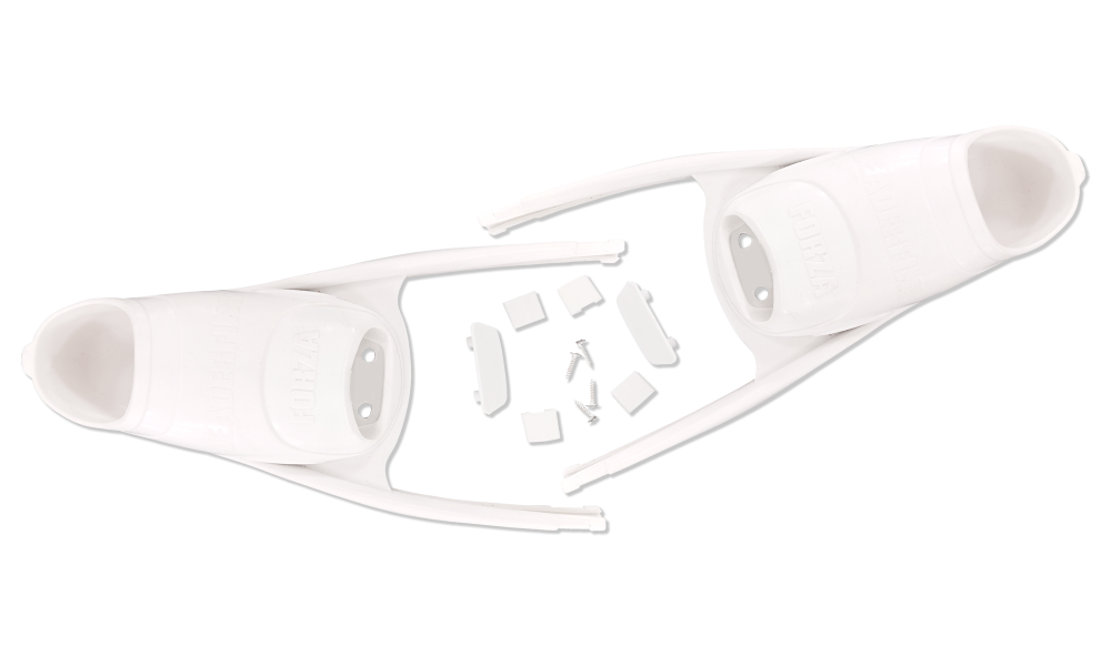 Forza White Foot pockets with Assembly Set